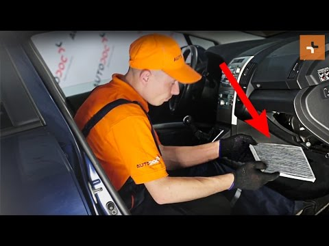 How To Change A Pollen Filter Toyota Corolla Verso 2