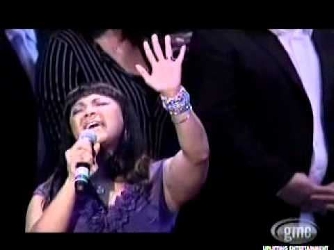 "Erica Campbell performs ""Dear Jesus I Love You"" at the Walter Hawkins Tribute Concert"