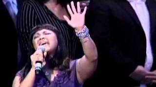 Erica Campbell performs
