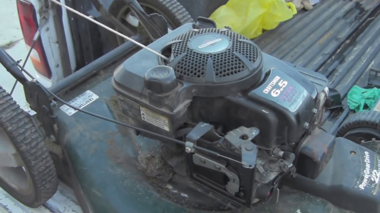 Getting A Craftsman 6 5hp Self Propelled Mower Fixed Youtube