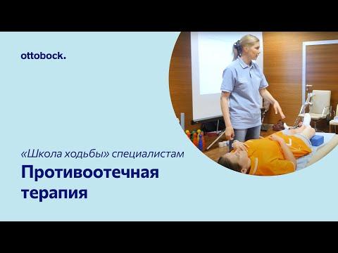 Противоотечная терапия - возвышенное положение. Видео для специалистов