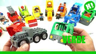 Fire Trucks for Children Learn the Colors with Trucks Video of Toys Lego Duplo