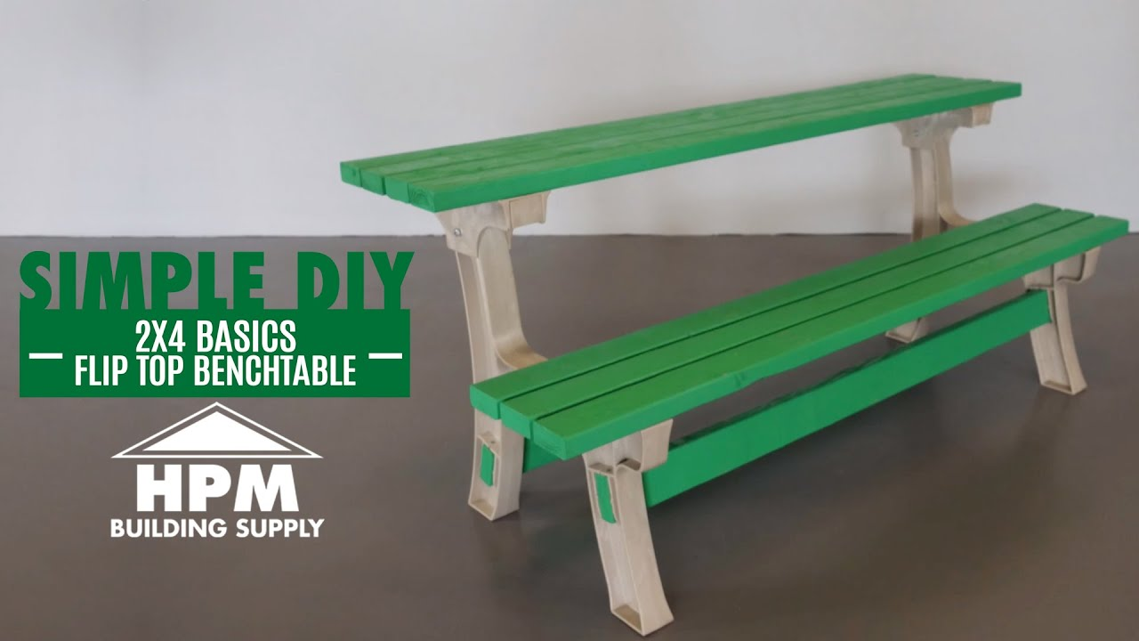 Build Better With Hpm Simply Diy 2x4 Flip Top Benchtable