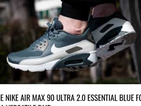 The Nike Air Max 90 Ultra 2.0 Essential Blue Fox Is A Versatile Pair