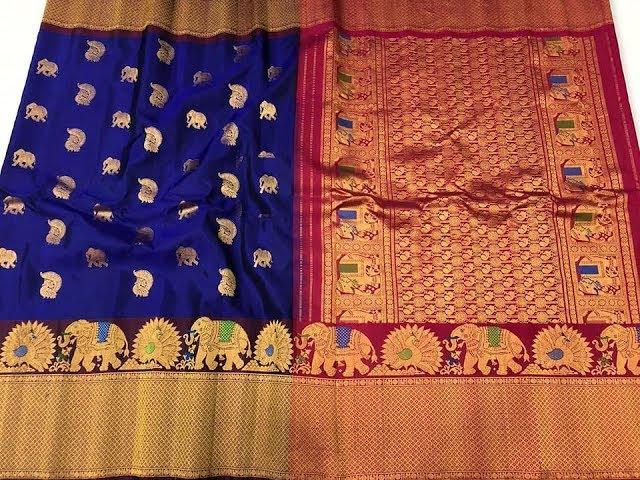 Pure Handloom Gadwal Silk Sarees    Party Wear Gadwal Sarees models