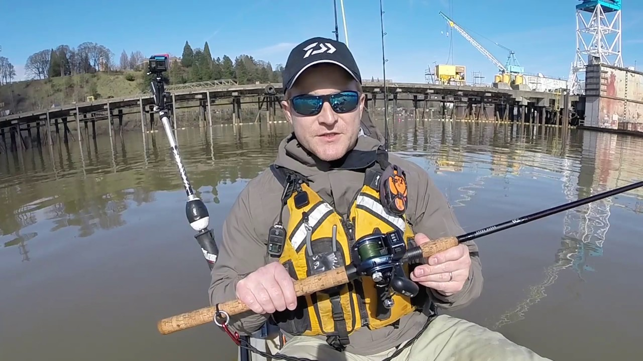 fb80d426fb3 Willamette Sturgeon on the New Daiwa Lexa 300 Line Counter - YouTube