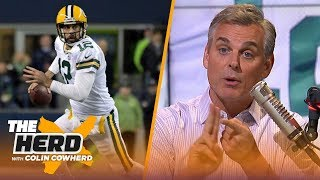 Colin Cowherd blames Aaron Rodgers for the Packers' TNF loss, compares him to Favre | NFL | THE HERD