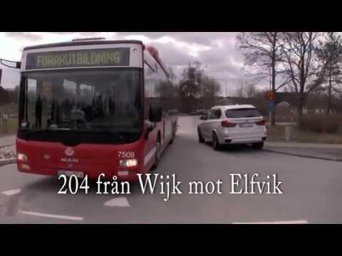 Överhäng - Boggibuss på Lidingö