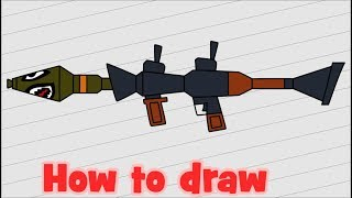 How to draw Fortnite - Rocket Launcher - RPG
