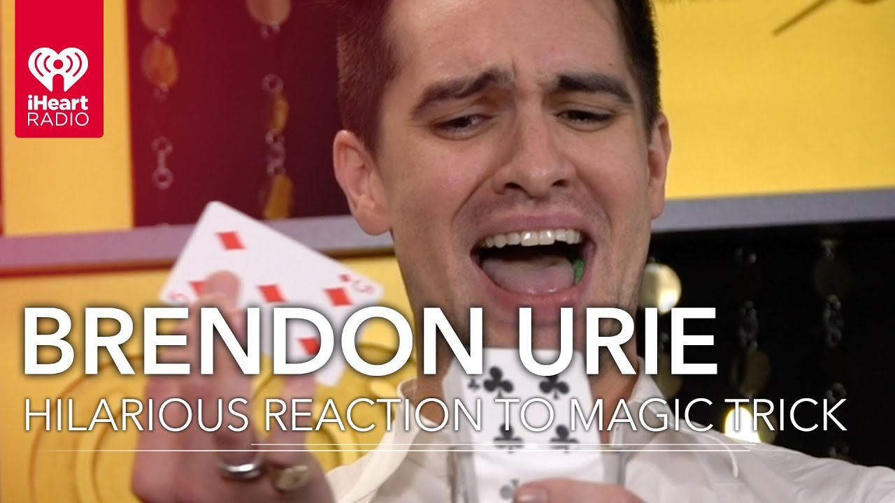 Brendon Urie Hilarious Reaction To Insane Magic Trick!   2018 iHeartRadio  Music Festival