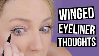 Real Thoughts While Attempting Winged Eyeliner