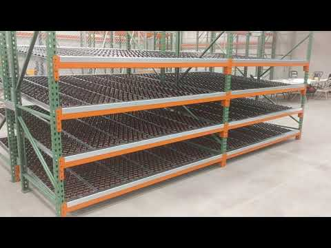 Warehouse Storage Options with Pallet Rack and Carton Flow Rack