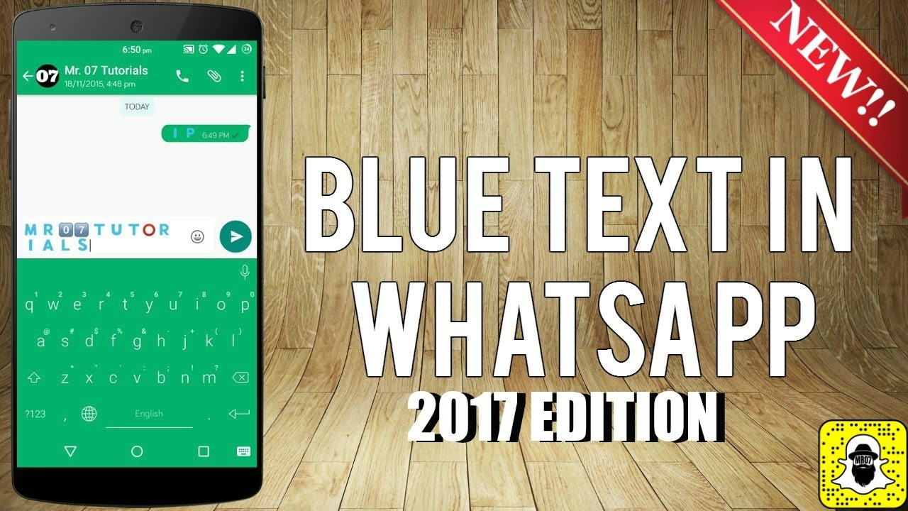 How to Type in Blue Color in WhatsApp?