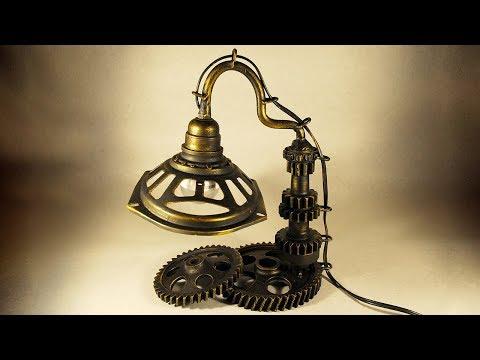 DIY Desk Lamp With Gears
