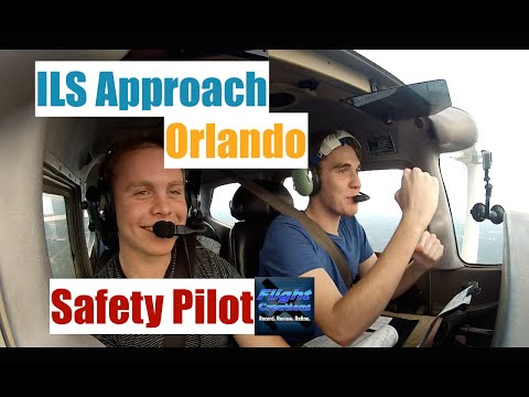Flying With A Safety Pilot| ILS Approach| Orlando Executive| ATC Audio