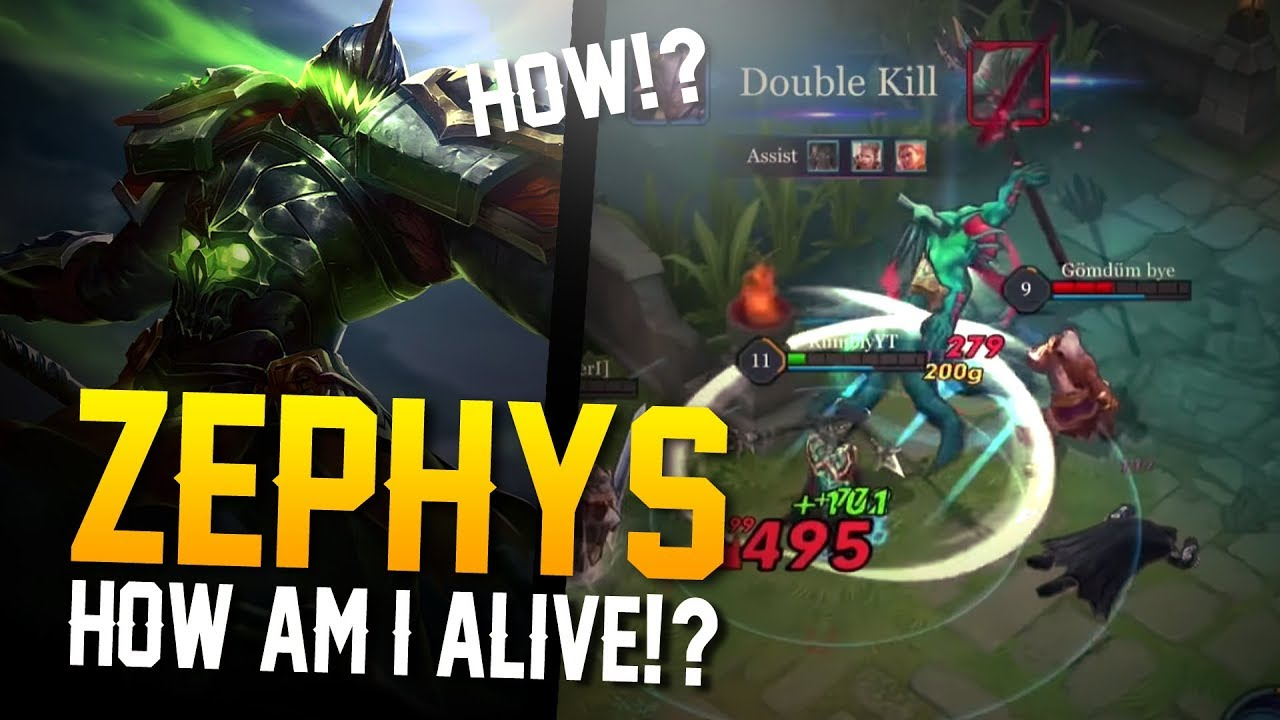 Arena Of Valor Gameplay How Am I Alive Zephys Gameplay