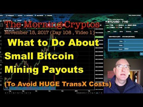 Avoid High Transaction Fees On Small Bitcoin Mining Payouts: MorningCryptos (108.01)