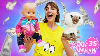 Vidéo en français pour enfants. Show 'Comme maman' - épisode 35. Chat pour bébé born Emilie