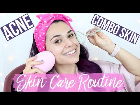 UPDATED DRUGSTORE SKIN CARE ROUTINE for ACNE COMBO SKIN 2018