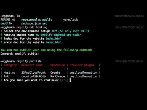Deploying Your React Application to AWS Using the AWS Amplify CLI