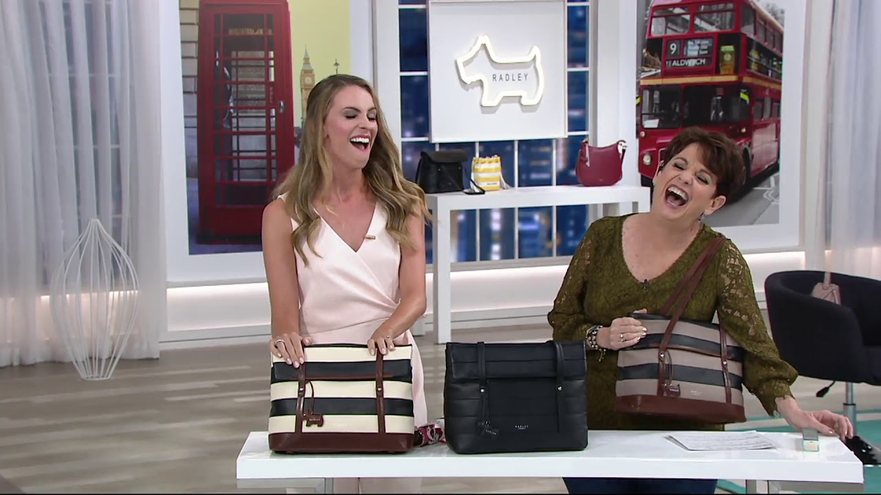 5a4d84df0206 RADLEY London Leather Babington East West Tote on QVC - YouTube