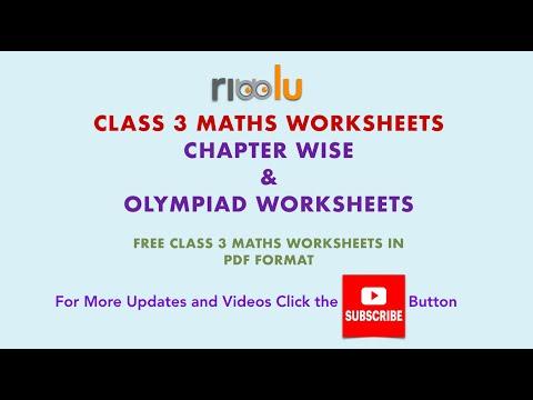CBSE Class 3 Maths Worksheets Free Printable PDF