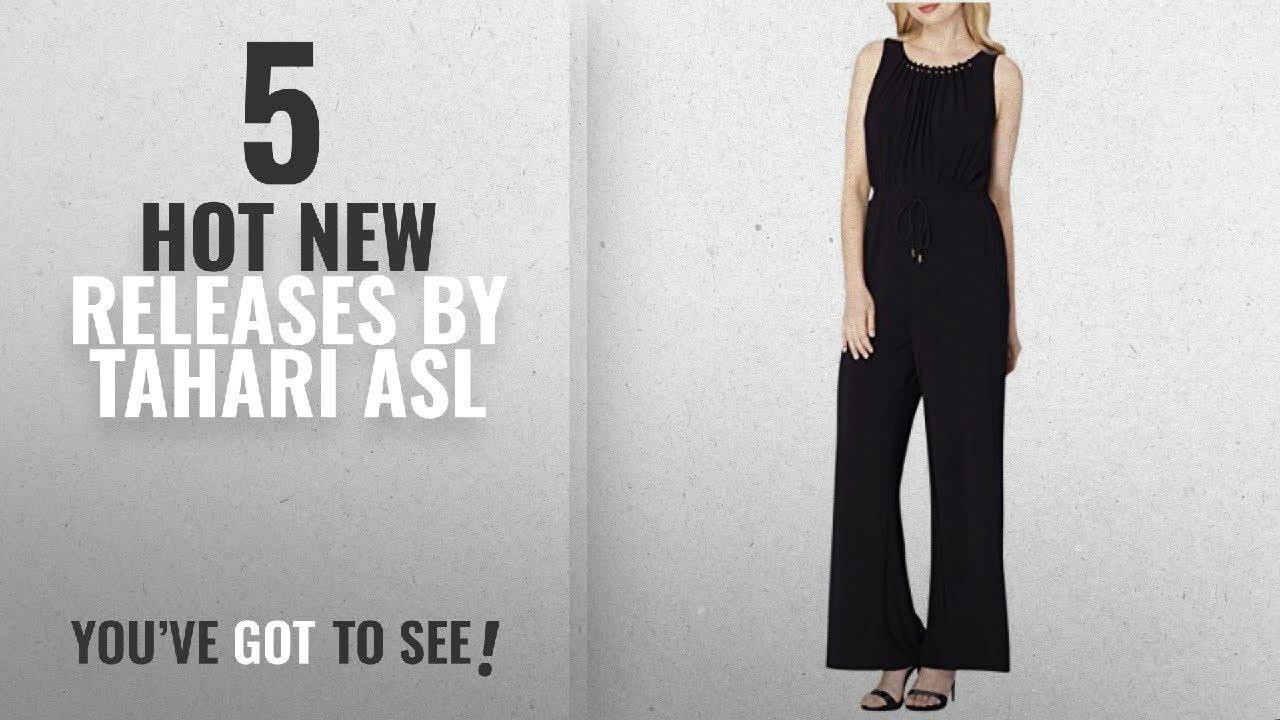 f58b7f34d310 Hot New Tahari Asl Women Clothing  2018   Tahari ASL Womens Plus Pleated  Belted Jumpsuit Black 18