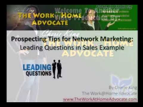 Mlm Sales Prospecting Tips Asking Leading Questions Examples Youtube