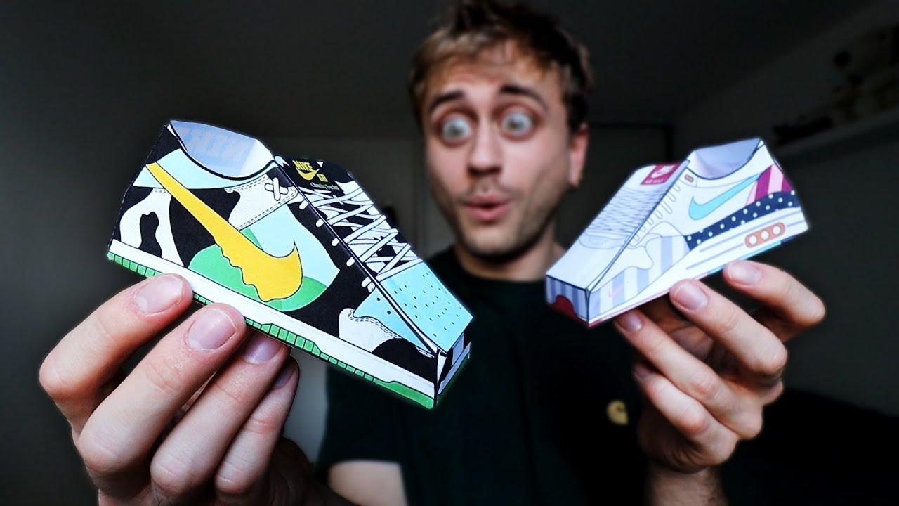 Fabriquer des mini Sneakers décoratives en papier