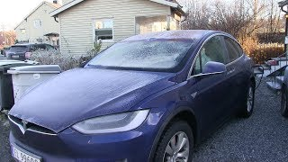 Tesla Model X with frost, what fails to operate?