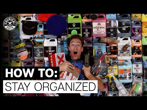 How To Organize & Setup Your Detailing Supplies! -  Behind The Scenes  Chemical Guys