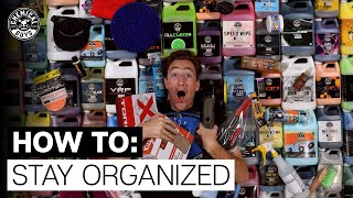 How To Organize & Setup Your Detailing Supplies! - |Behind the Scenes| Chemical Guys