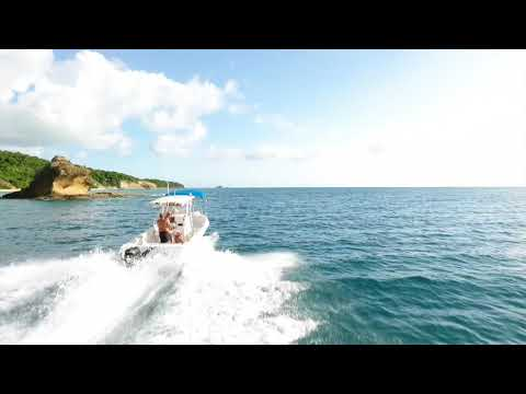 Power Boat Antigua, Drone, Deep Bay Beach to Jolly Harbour Hawksbill