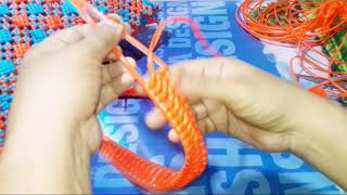 Crosscut and biscuit knot basket in plastic wire3/3(steps model handle first time in web) model 19
