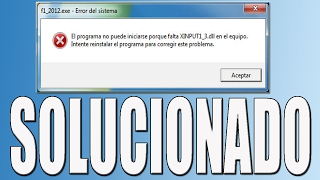 Gambar cover Error XINPUT1_3.dll | Windows 7, 8, 8.1 y 10 | PROBLEMA SOLUCIONADO |