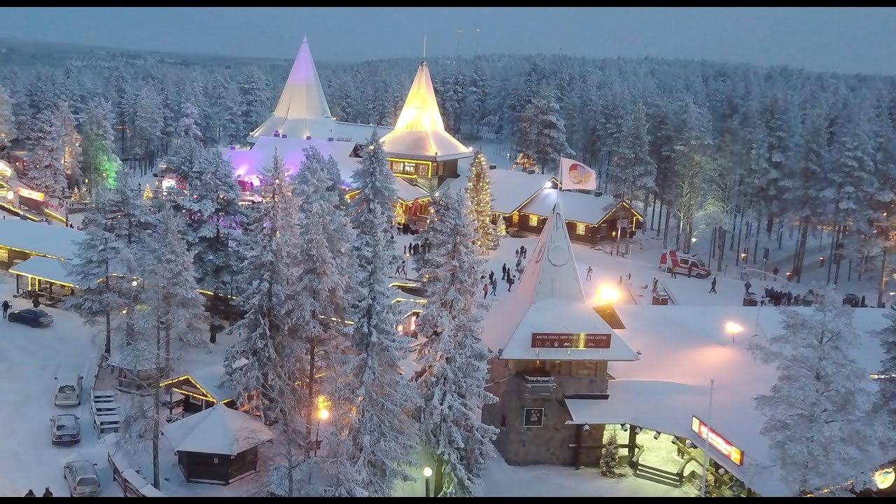 Santa claus hometown rovaniemi in lapland finland by air - Maison du pere noel ...