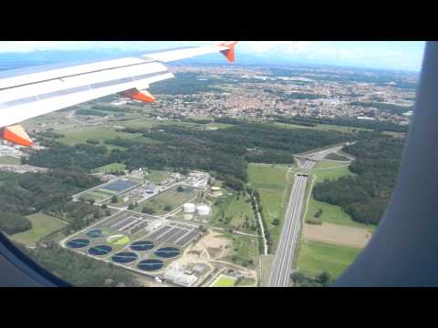 Landing to Milan Malpensa in a bright and clean day