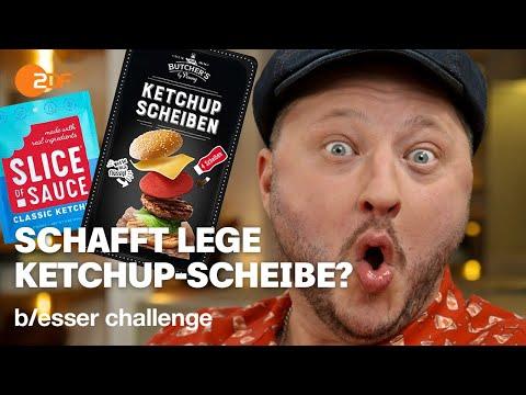 Burger Belag: Sebastian soll Ketchup in Scheiben machen | b/esser challenge