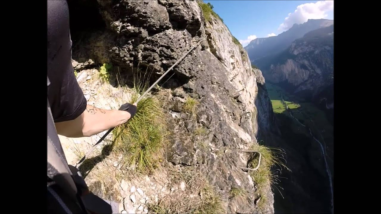 Klettersteig Lauterbrunnen : Klettersteig lauterbrunnen youtube