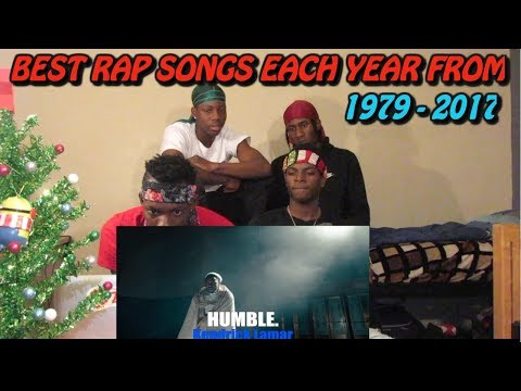 Best Rap Songs Of Each Year  19792017  REACTION!