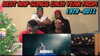 Best Rap Songs Of Each Year ( 1979-2017) - REACTION!
