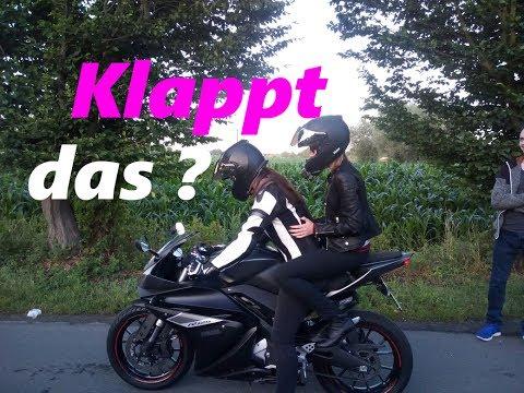 SIE nimmt ihre MÄDELS mit auf dem Motorrad   Yamahco   MotoVlog