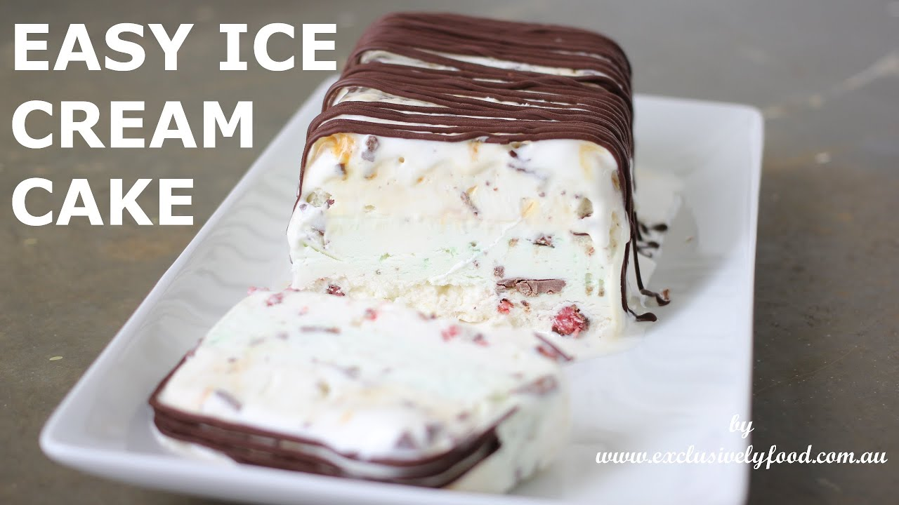 Layered Ice Cream Dessert Recipe by Exclusively Food - YouTube