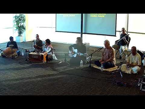 Nanda Priya Chants Hare Krishna at USF Campus Kirtan