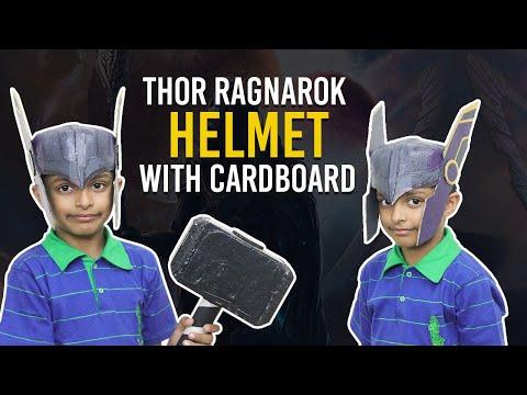How to make Thor Ragnarok Helmet with Cardboard - हिंदी में | Avengers Super Hero DIY Stuff