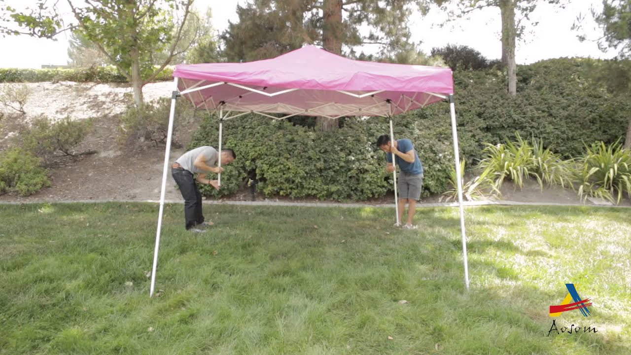 aosom outsunny easy pop up canopy party tent