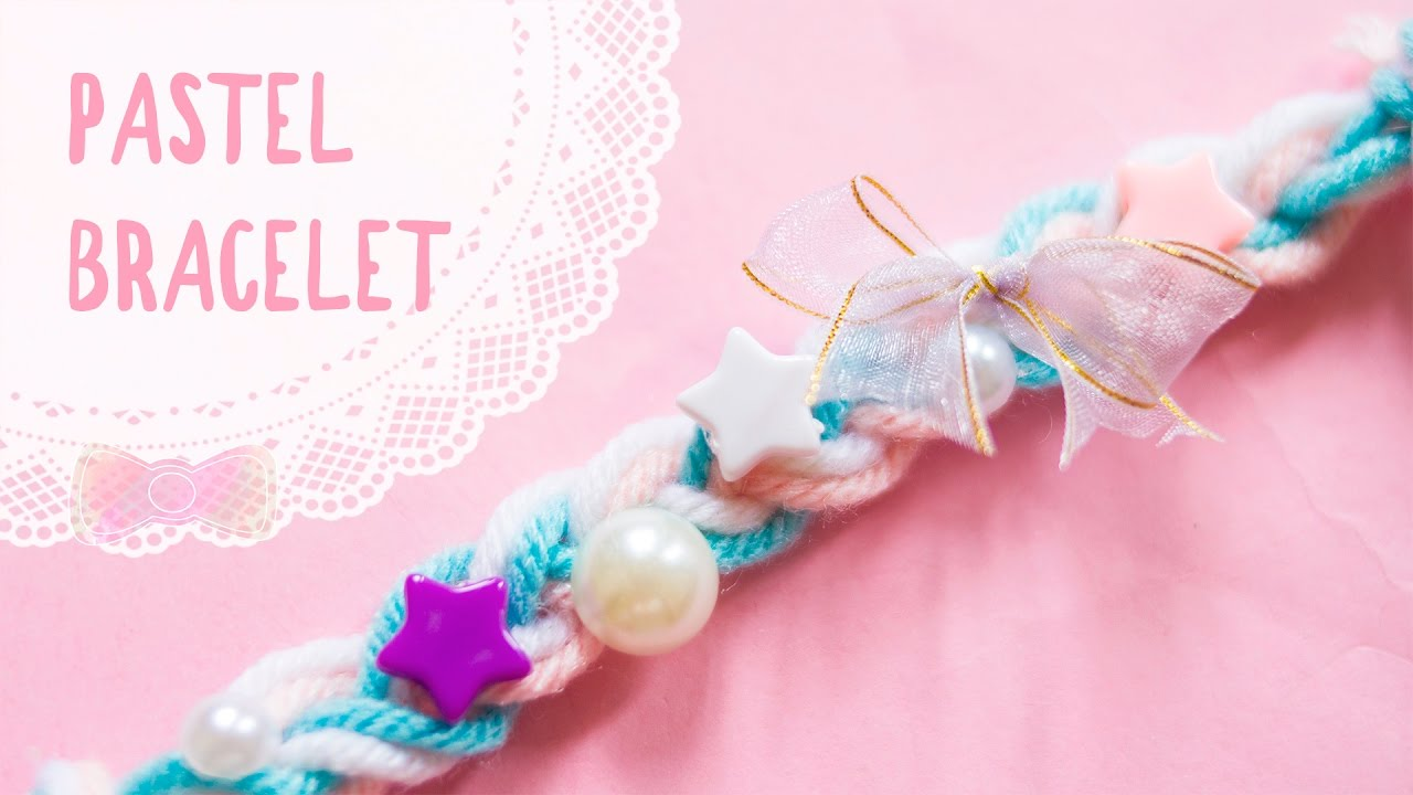 Diy Fairy Kei Inspired Pastel Yarn Bracelet Kawaii Accessories I Wear A Bow
