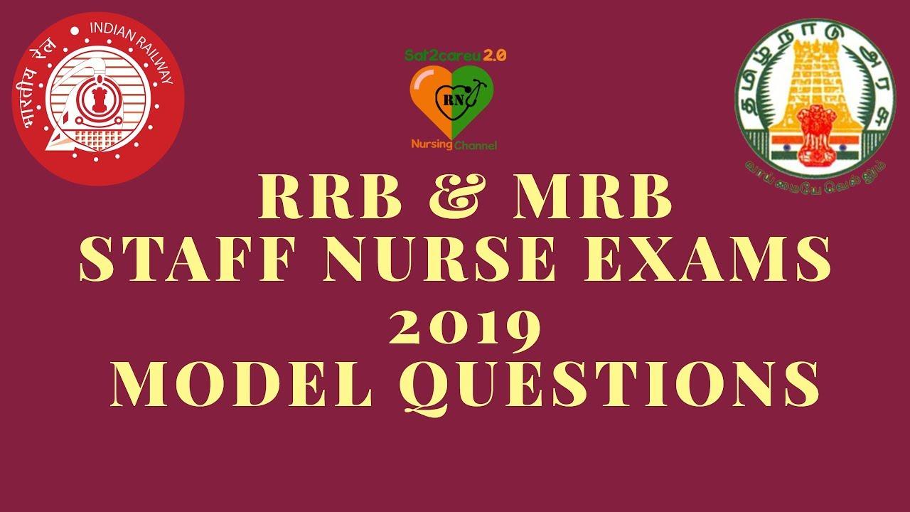 RRB Staff Nurse Exam and Tamil Nadu MRB Staff Nurse Exam Questions