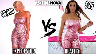 TRYING ON KYLIE JENNER'S OUTFITS FROM FASHION NOVA!