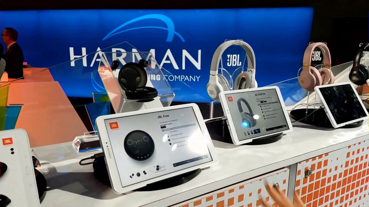 f4e0a55246c Harman Kardon AKG & JBL - CES 2018 Booth New Speakers, Headphones &  Earphones